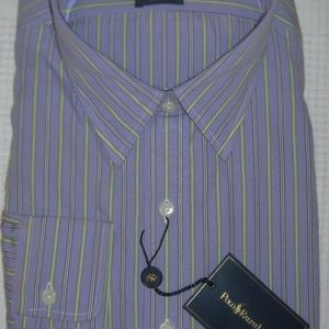 Ralph Lauren Andrew Striped Purple Dress Shirt